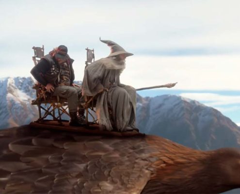 Gandalf on eagle
