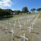 White Crosses - Fields of Remembrance, Salamanca Lawn, Wellington Botanic Gardens. Wellington, New Zealand on Tuesday 19 April 2016.