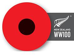 NZ Anzac poppy
