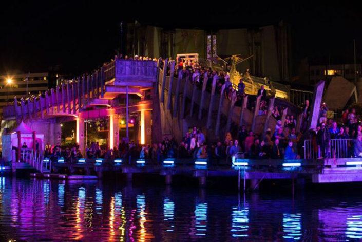 Wellington Water front lights