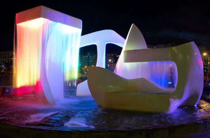 Wellington Water front fountain