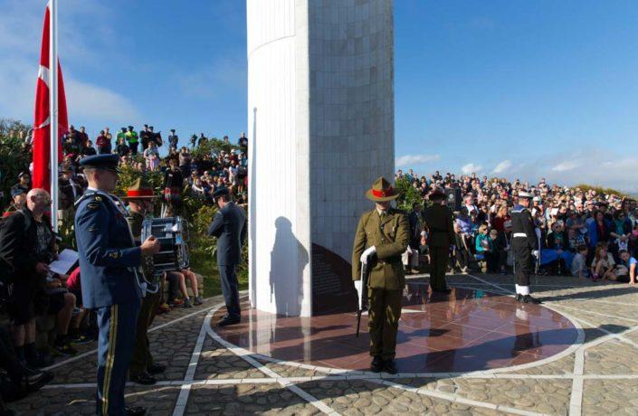 ANZAC Day ceremony at Ataturk Memorial in Breaker Bay Miramar