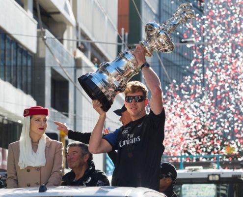 Americas Cup Victory Parade; Wellington